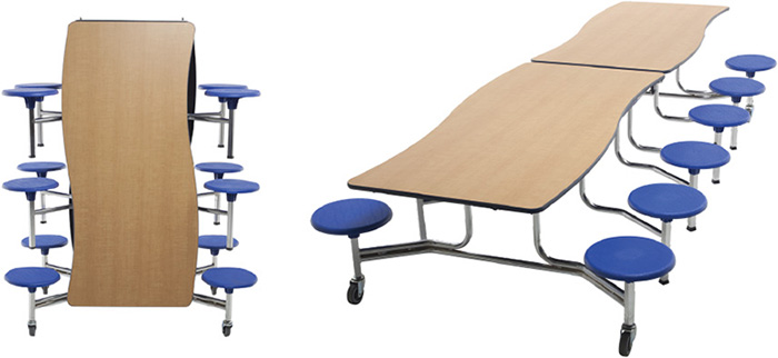 AM-TAB<br>Mobile Stool Table - Wave<br>Dynamic and Durable Seating.